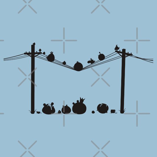 TShirtGifter presents: Angry Birds on a wire