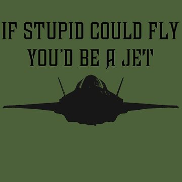 If stupid could fly you'd be a JET by BrianEFisher