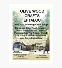 Eftalou Olive Wood Shop Art Print