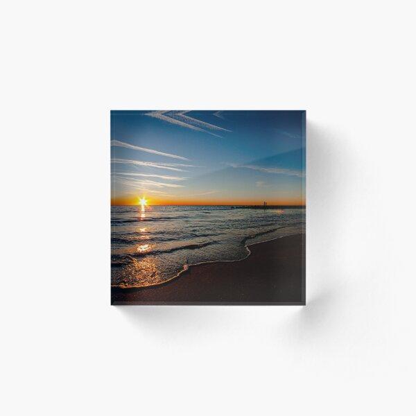 Sunrise Buckroe Beach Hampton, Va dec 6th 2019 Acrylic Block