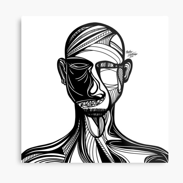 Abstract Portrait 3 Metal Print