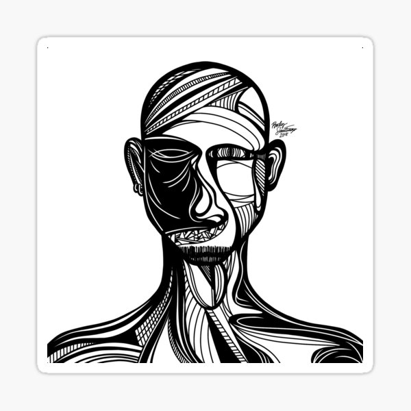 Abstract Portrait 3 Sticker
