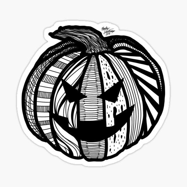Abstract Jack-o'-lantern Sticker