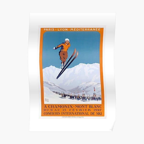 1927 Chamonix - Mont Blanc France Ski Championship Poster Poster