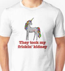 Charlie Unicorn They Took My Frickin' Kidney Unisex T-Shirt