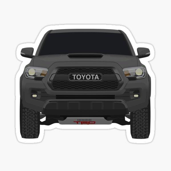 Grey Toyota Tacoma TRD Pro  Sticker