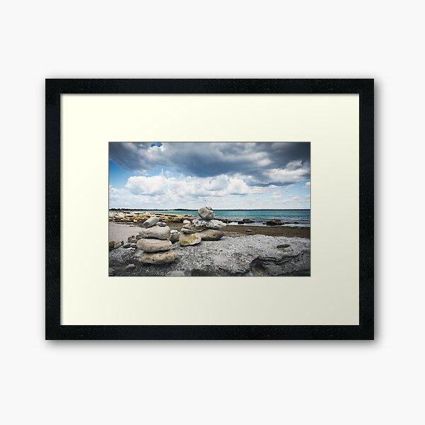 Rocks Stacks 1 Framed Art Print