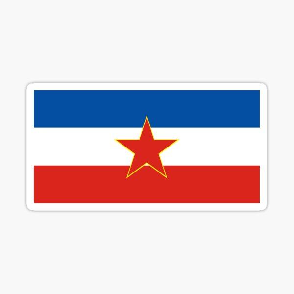 flag of yugoslavia Sticker
