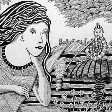 234 - ALICE MEETS THE CATERPILLAR - DAVE EDWARDS - INK - 2011 by BLYTHART