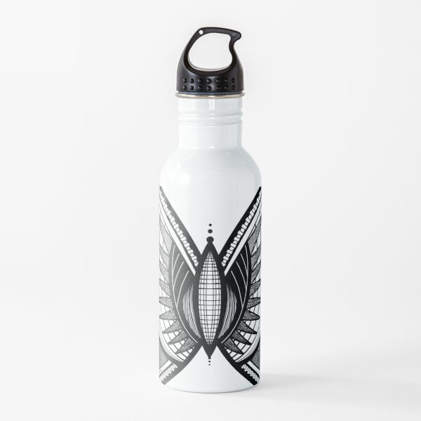 Abstract Butterfly Water Bottle