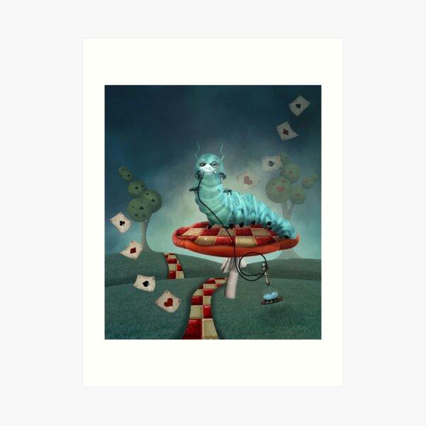 Smoking Caterpillar Art Print