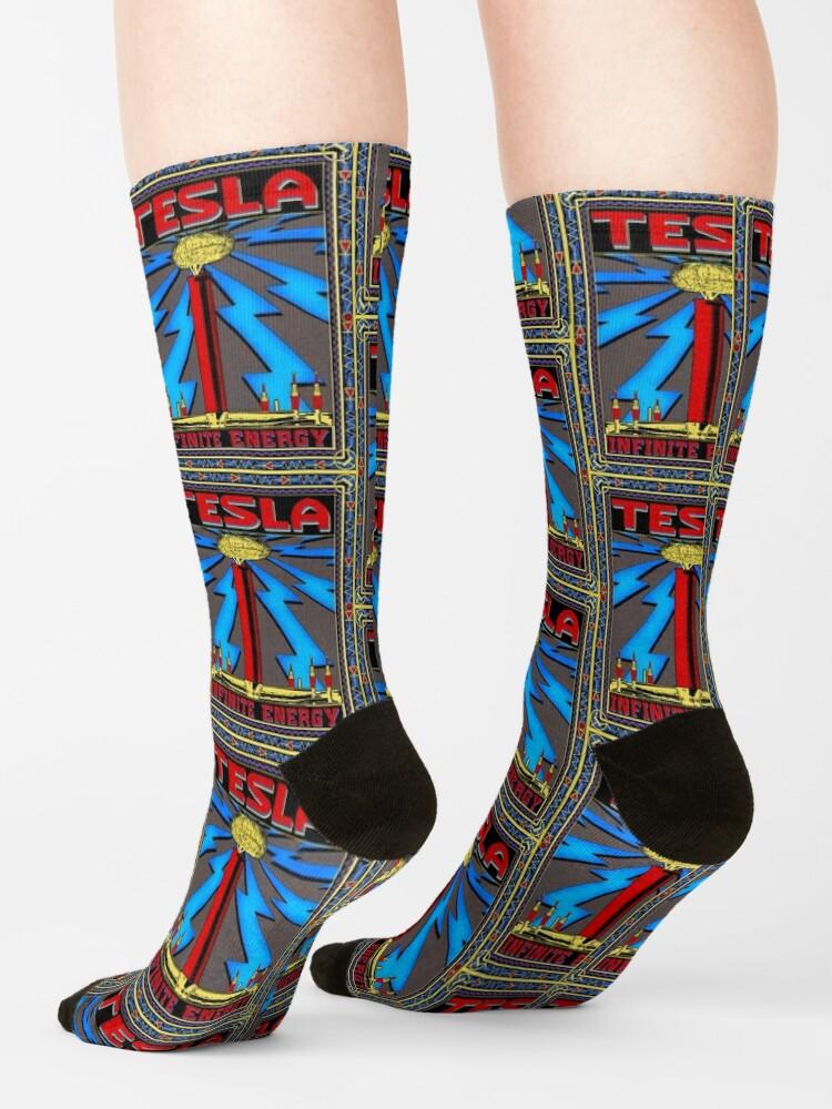 Alternate view of TESLA COIL - INFINITE ENERGY Socks