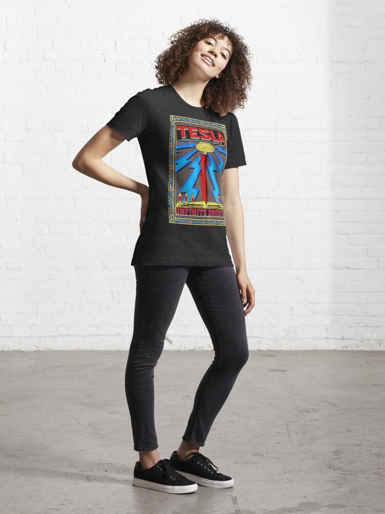 Alternate view of TESLA COIL - INFINITE ENERGY Essential T-Shirt