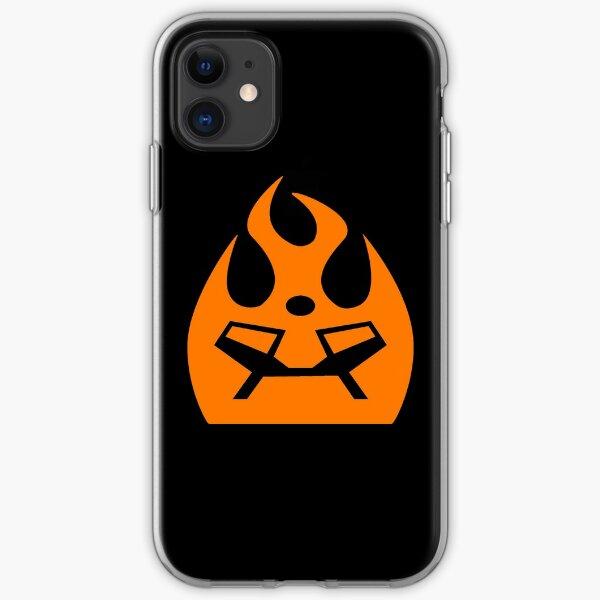 Lava Strike Force Emblem - Orange iPhone Soft Case