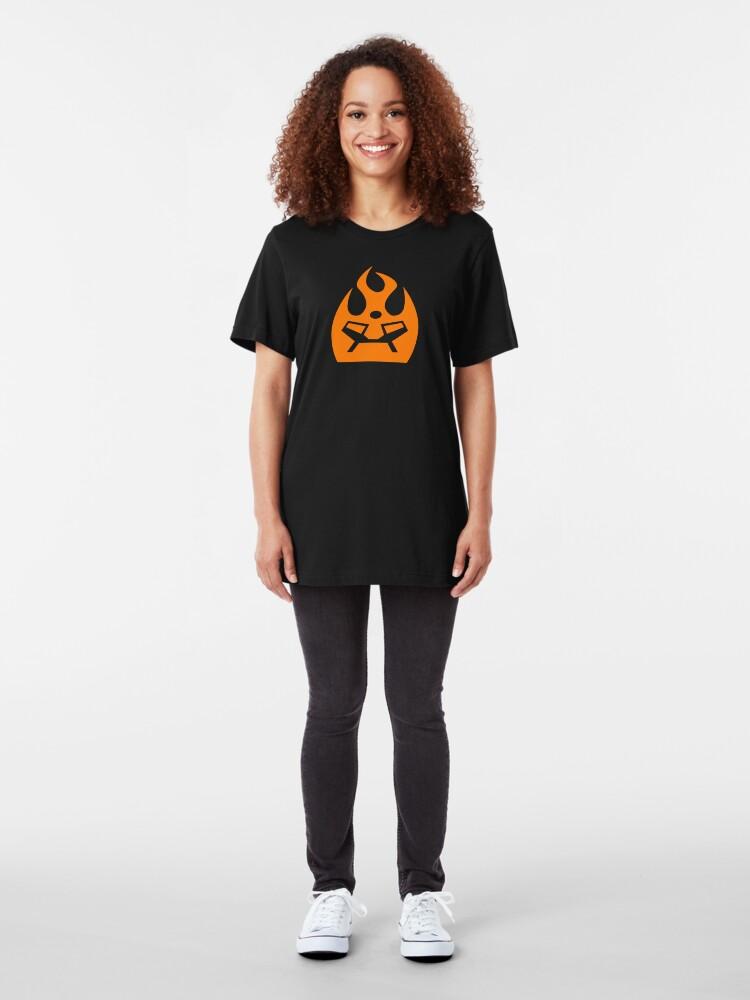 Alternate view of Lava Strike Force Emblem - Orange Slim Fit T-Shirt