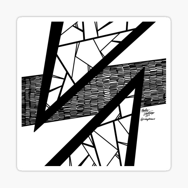 Abstract 8 Sticker