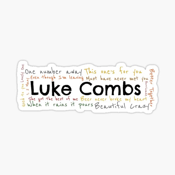 Luke Combs graphic Sticker