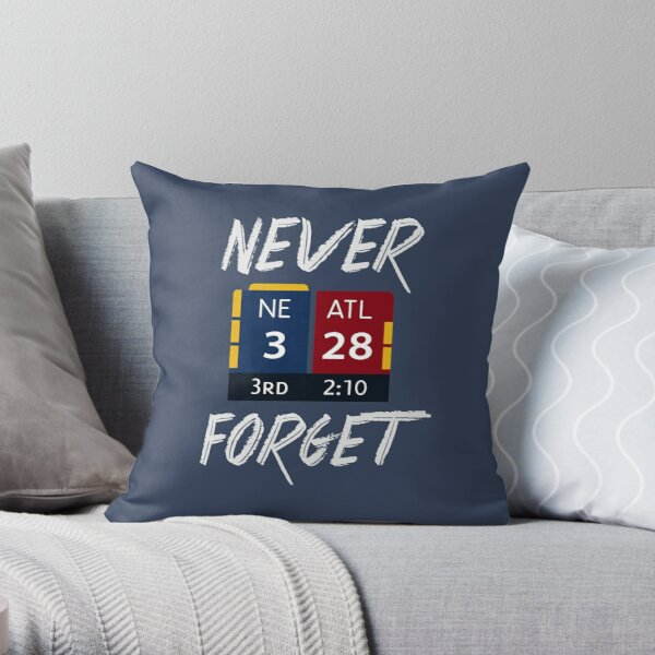 Never Forget 28-3 Historic Comeback Shirt, Mug, Phone Case, Pillow & Wall Tapestry! Throw Pillow