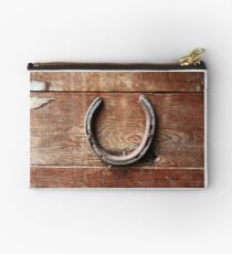 Horse Shoes bring Good Luck Studio Pouch