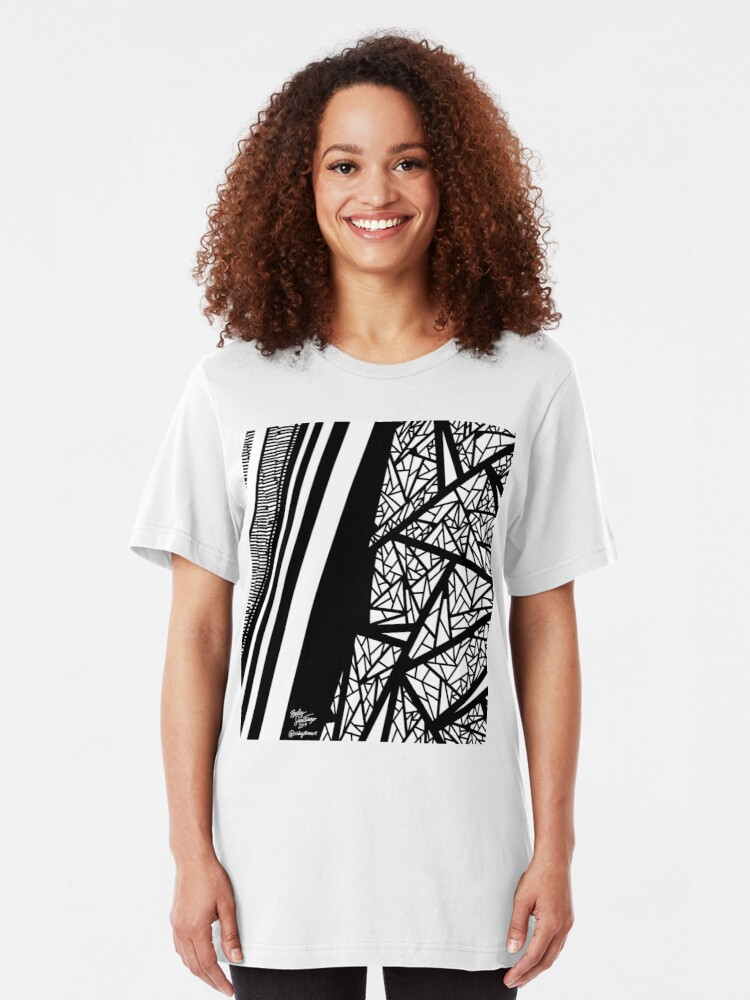 Alternate view of Abstract 10 Slim Fit T-Shirt