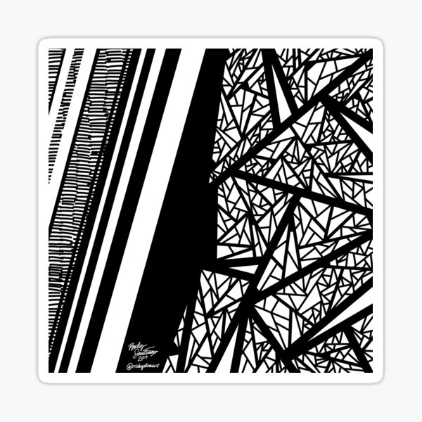 Abstract 10 Sticker