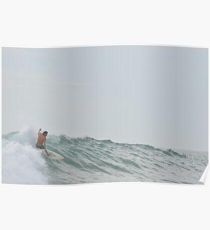 morning surf Poster