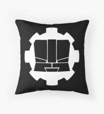 Heroic Gearo Emblem - White Throw Pillow