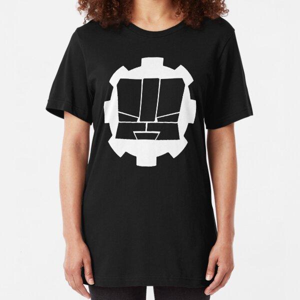 Heroic Gearo Emblem - White Slim Fit T-Shirt