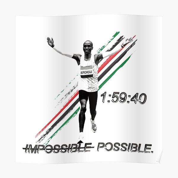 Eliud Kipchoge - World's First Sub-2:00 Marathon! Poster