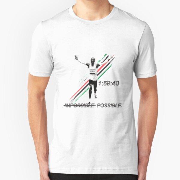 Eliud Kipchoge - World's First Sub-2:00 Marathon! Slim Fit T-Shirt