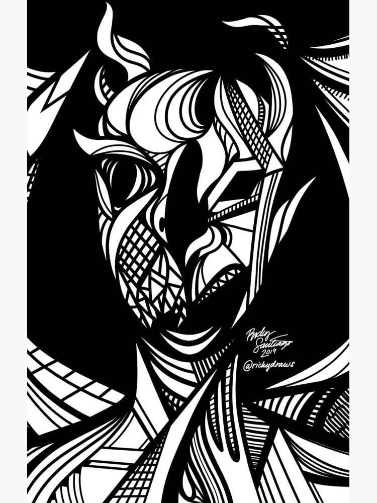 Abstract Portrait 5 by rickysantiago