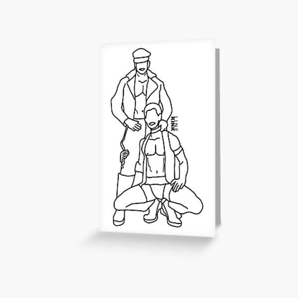 Kinkline Master and Slave Greeting Card