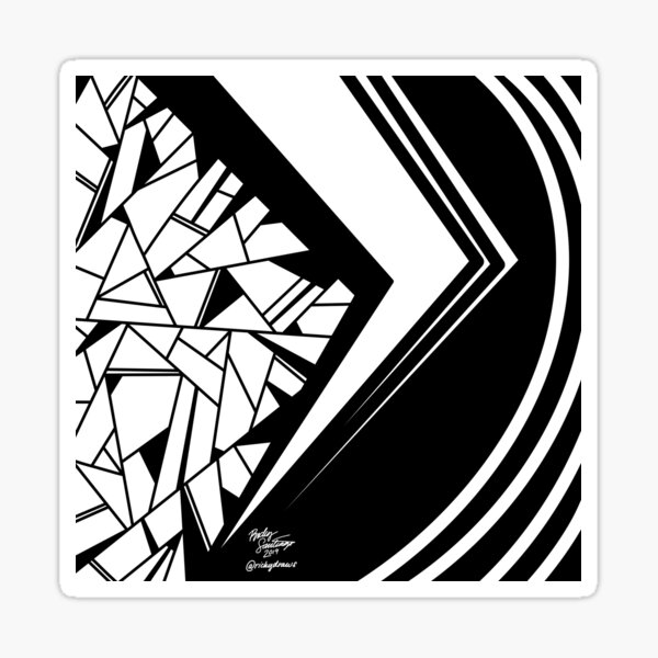 Abstract 13 Sticker
