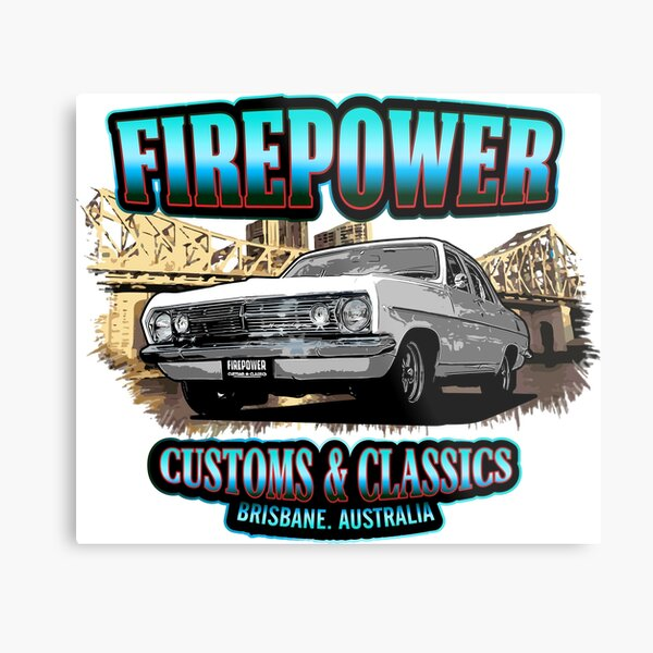 Firepower Customs and Classics Souvenir Brisbane HR Sedan  Metal Print