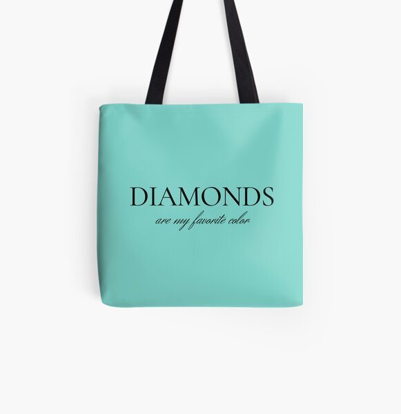 Diamonds Are My Favorite Color All Over Print Tote Bag