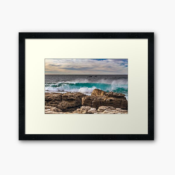 Moes Rock Whales 2019 Framed Art Print