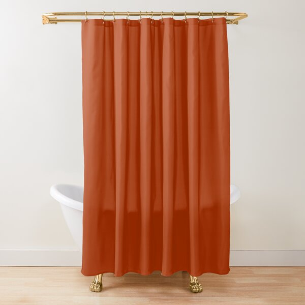 Solid Rust  Shower Curtain