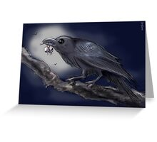 THE CROW GOTHIC HALLOWEEN Greeting Card