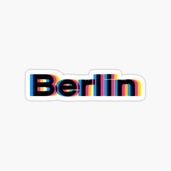 Berlin 3 D Sticker