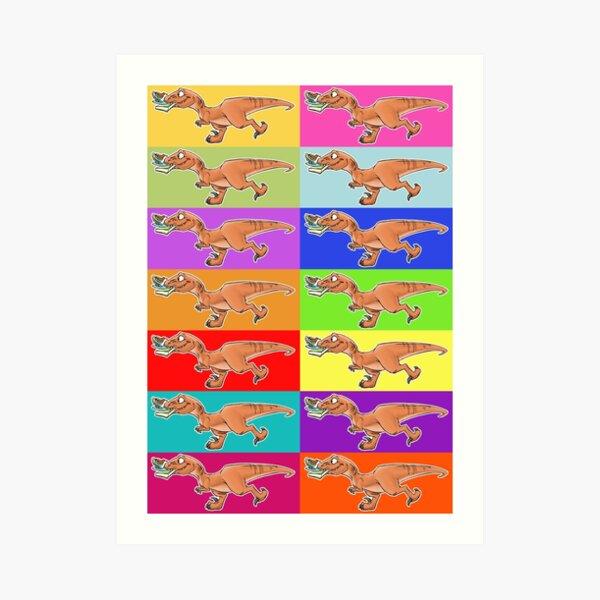 Raptor Rainbow! Art Print