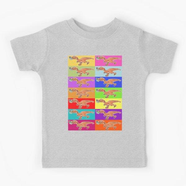 Raptor Rainbow! Kids T-Shirt