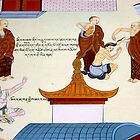 tibetan mural. clementown, india by tim buckley | bodhiimages