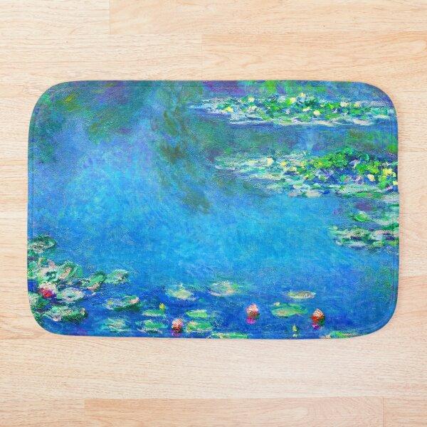 Claude Monet Water Lilies Color-Enhanced Bath Mat
