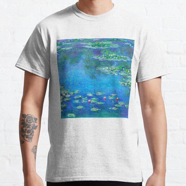 Claude Monet Water Lilies Color-Enhanced Classic T-Shirt