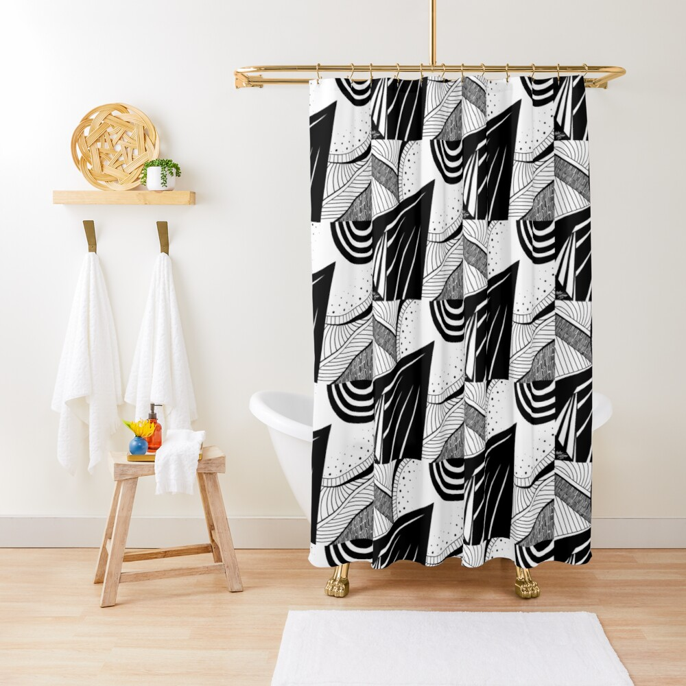 Abstract 5 Shower Curtain