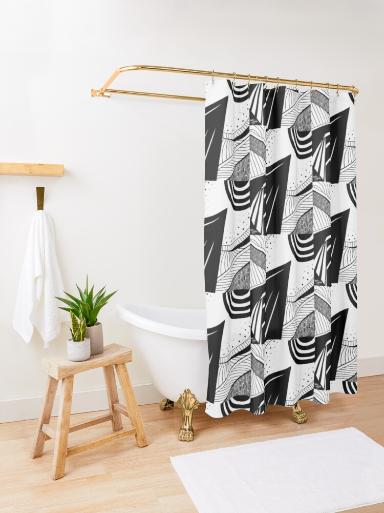 Alternate view of Abstract 5 Shower Curtain