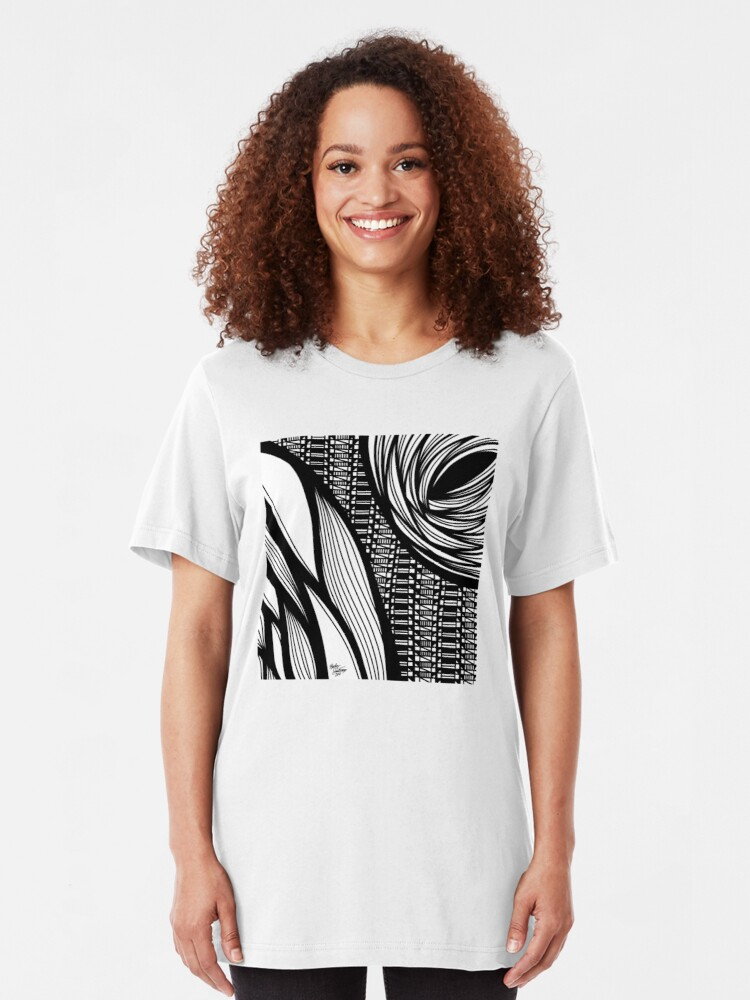 Alternate view of Abstract 3 Slim Fit T-Shirt
