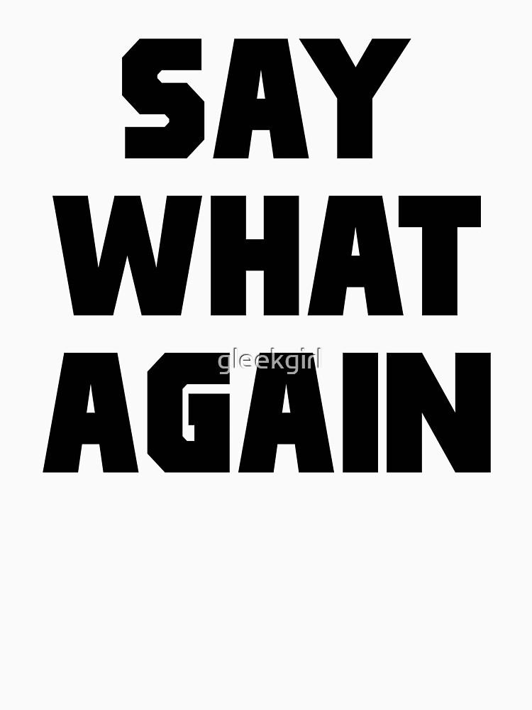 Pulp Fiction Say What Again | Unisex T-Shirt