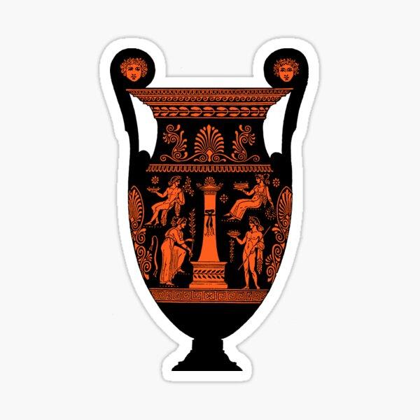 Red Figure Ancient Greek Urn Volute Krater Sticker