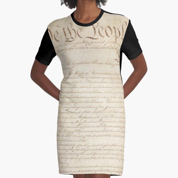 The Constitution of United States of America 1 Graphic T-Shirt Dress